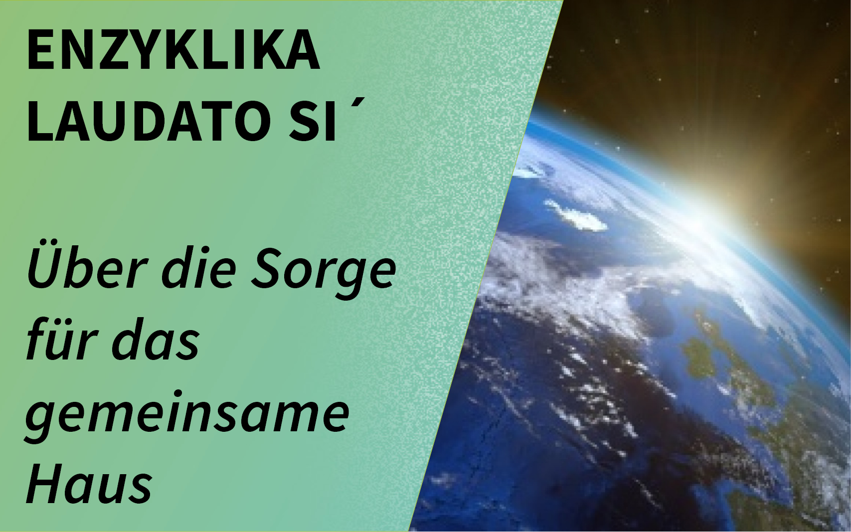 Banner 5 Jahre Enzyklika Laudato si´