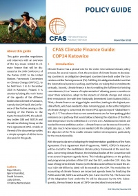 CFAS COP24 Climate Finance Guide