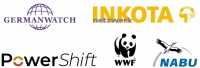 Logos PowerShift, Germanwatch e.V., INKOTA-netzwerk e.V., NABU, WWF