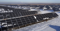 Russia's second largest solar power plant in Samara region.