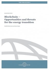 Cover Blockchain. Opportunities and threats for the energy transition