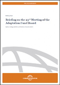 Briefing on the 23rd Meeting of the Adaptation Fund Board
