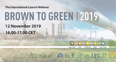 The International Launch Webinar Brown to Green 2019