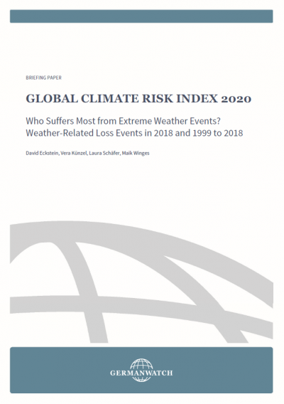 Cover Global Climate Risk Indes 2020