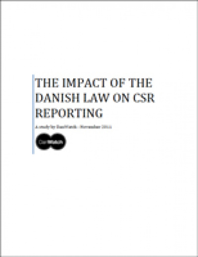 Cover_The Impact of the Danish Law on CSR-Reporting