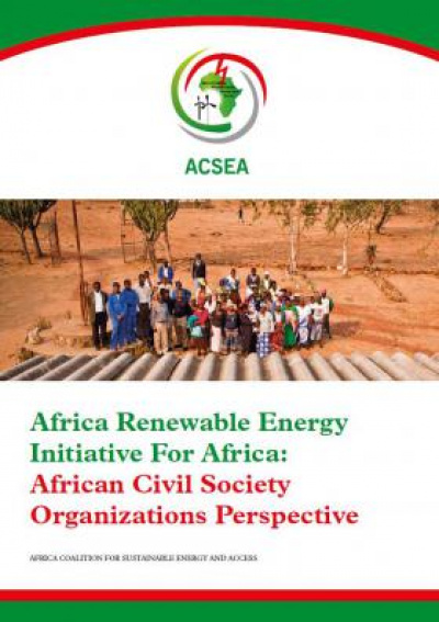 "Cover: Study ""Africa Renewable Energy Initiative For Africa"""